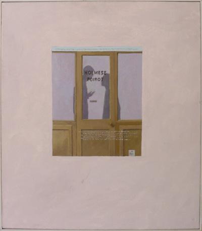 Holmese, Poirot. oil on canvas. 60cm x 50cm